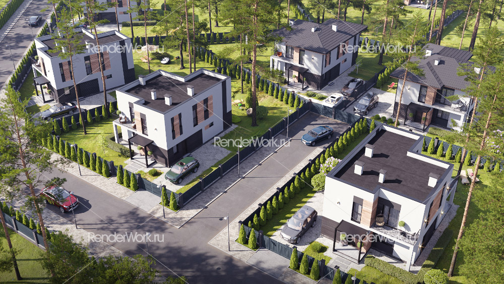 3d visualization houses and exteriors, home presentation, 3D architectural animations